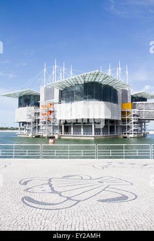 Oceanario of Lisbon, Portugal - Stock Photo