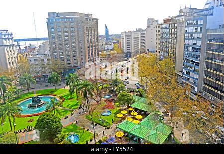 Plaza Fabini Montevideo Uruguay - Stock Photo