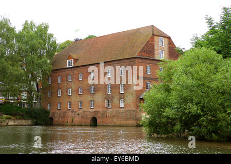 Old warehousing along the River Wey navigation in Guildford. - Stock Photo