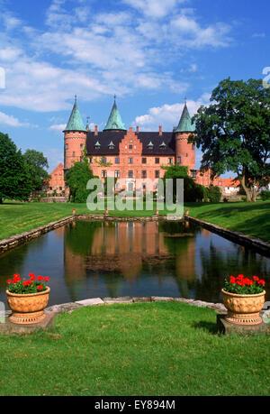 Private estate Renaissance castle of Trolleholm (Trolleholms slott) in province of Skane in southern Sweden - Stock Photo