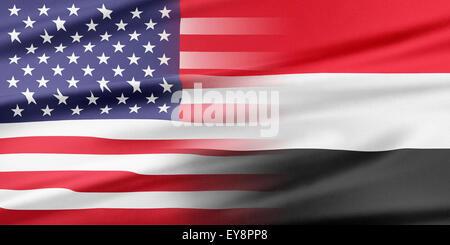 USA and Yemen. - Stock Photo