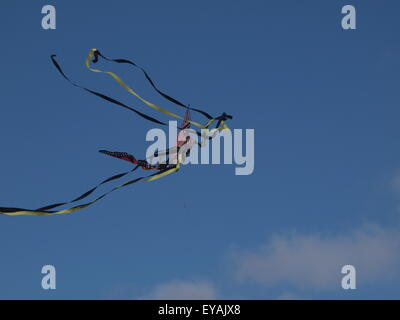 St. Annes, Lancashire, UK, July, 2015.   Kite flying high at kite festival weekend.  Annual kite festival held on - Stock Photo