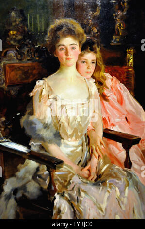 John Singer Sargent  Mrs. Fiske Warren (Gretchen Osgood) and Her Daughter Rachel - Stock Photo