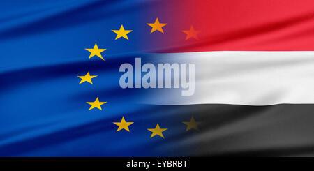 European Union and Yemen. - Stock Photo