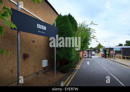 BBC Elstree Studios entrance and sign - Stock Photo