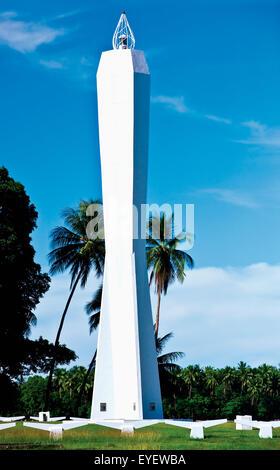 Coastwatchers Memorial; Madang, Madang Province, Papua New Guinea - Stock Photo