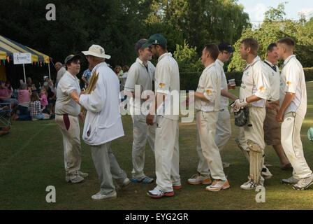 Village cricket Sussex Uk HOMER SYKES - Stock Photo