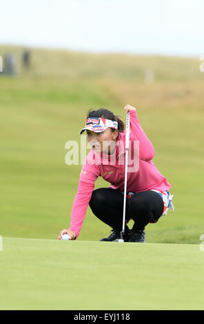 Turnberry, Scotland. 30th July, 2015. Ricoh Womens British Open Golf Day 1. Teresa Lu on the 18th © Action Plus - Stock Photo
