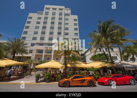 TIDES HOTEL HOTEL OCEAN DRIVE MIAMI BEACH MIAMI FLORIDA USA - Stock Photo