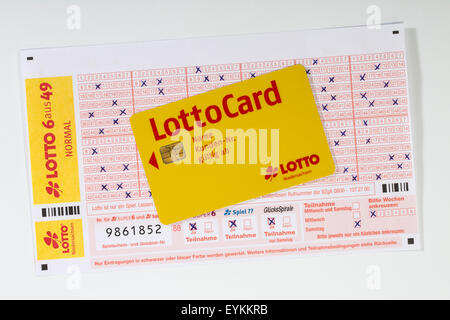 Lottery coupon, satisfactorily, LottoCard, - Stock Photo