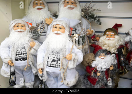 christmas decorative dwarfs at a store in manchester,england - Stock Photo