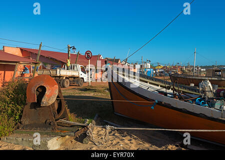 Fishing Boats, Punta del Diablo, Uruguay - Stock Photo
