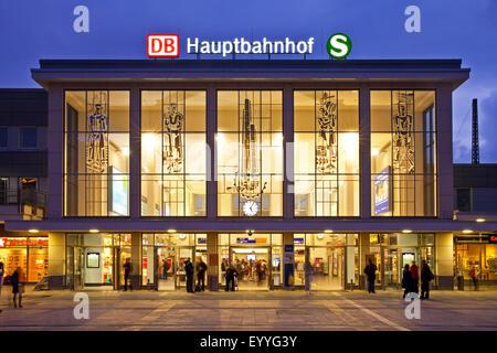 Dortmund Hauptbahnhof, main railway station, Germany, North Rhine-Westphalia, Ruhr Area, Dortmund - Stock Photo