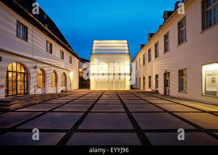 Wedinghausen monastery and light house 'Lichthaus' in the evening, Germany, North Rhine-Westphalia, Sauerland, Arnsberg - Stock Photo