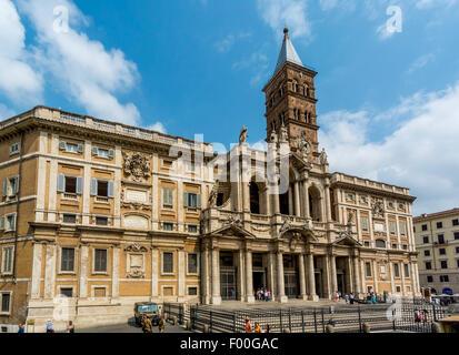 East front of The Basilica di Santa Maria Maggiore - Stock Photo