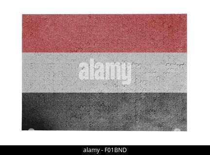 Large jigsaw puzzle of 1000 pieces - flag - Yemen - Stock Photo