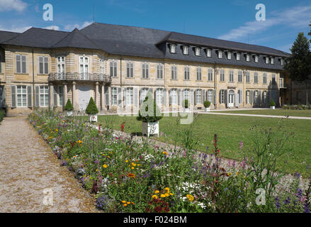 Neues Schloss or New Palace at the Hofgarten or Court Garden, Bayreuth, Upper Franconia, Bavaria, Germany - Stock Photo