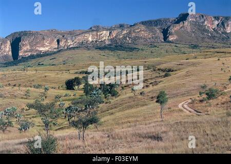 Madagascar, Ranohira, Isalo National Park (Parc National de l'Isalo), landscape - Stock Photo