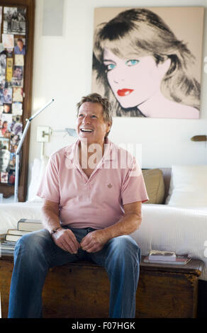 Malibu, California, USA. 23rd Aug, 2010. Ryan O'Neal, an American television and film actor, photographed in his - Stock Photo