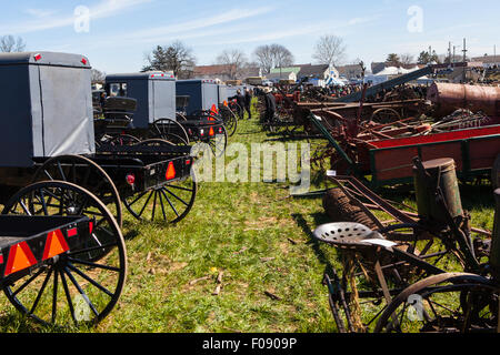 Muddy fields in late winter is why the public sales held by Lancaster County volunteer fire companies are called - Stock Photo