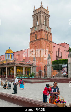 Bell Tower of Santa Escuela Church, San Miguel de Allende, Mexico - Stock Photo