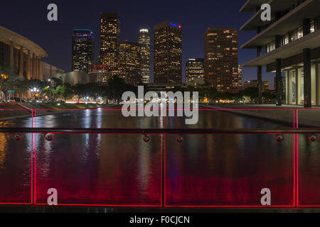 DOWNTOWN SKYSCRAPERS WATER AND POWER DEPARTMENT LAKE LOS ANGELES CALIFORNIA USA - Stock Photo