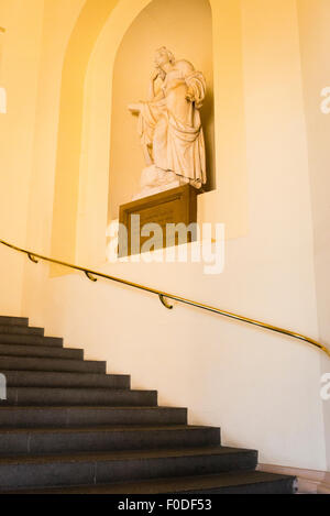 London Southbank Greenwich Maritime Royal Naval College neo classical Chapel interior entrance stairs staircase - Stock Photo
