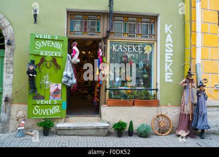 Souvenir shop, vene street, old town, Tallinn, Estonia, northern Europe - Stock Photo