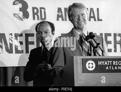 Atlanta, Georgia, USA. 5th Feb, 2015. President Jimmy Carter at an Atlanta civil rights conference in 1977 with - Stock Photo