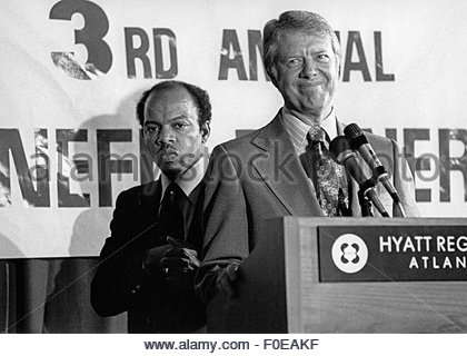 June 1, 1977 - Atlanta, Georgia, USA - President Jimmy Carter at an Atlanta civil rights conference in 1977 with - Stock Photo