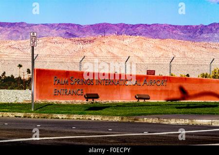 Palm Springs International Airport California - Stock Photo
