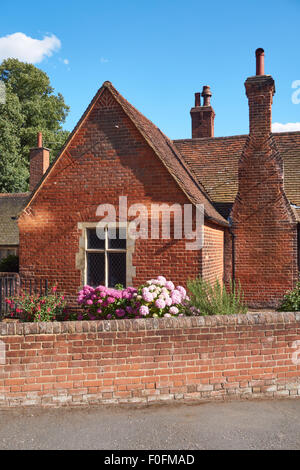 Red brick house in Brentwood, Essex, England United Kingdom UK - Stock Photo