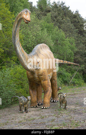 Diplodocus a large herbivorous extinct sauropod dinosaur of the Jurassic period Dinosaurier Park Germany - Stock Photo