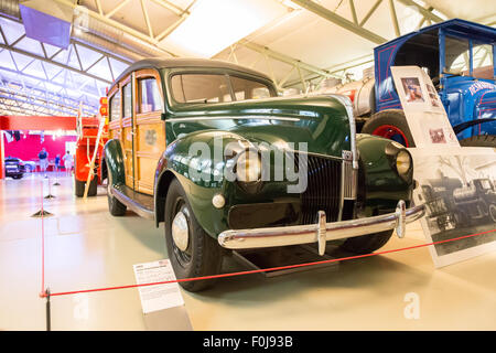 Car museum at Le Mans, France - Stock Photo