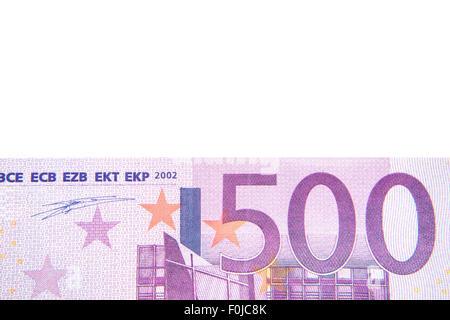500 euro note detail background - Stock Photo