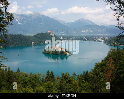 Travel and tourism in Europe. Lake Bled, Slovenia - Stock Photo