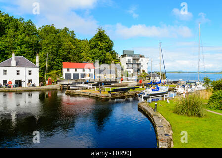 Harbour at Crinan Argyll Scotland at one end of the Crinan Canal - Stock Photo