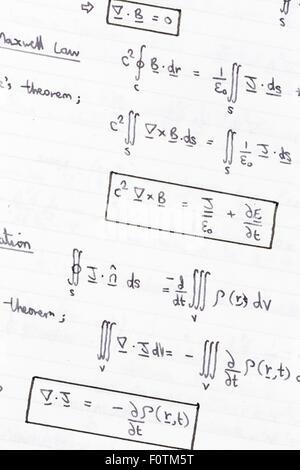 Equations of heat conduction, thermodynamics - Stock Photo