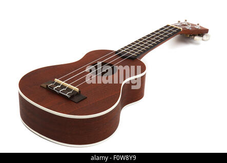 ukulele on white background - Stock Photo