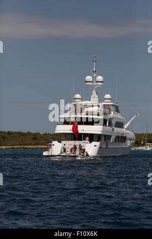 Charter Yacht in the Mediterranean. - Stock Photo