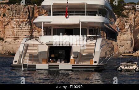 Plan B. Charter Yacht in the Mediterranean. - Stock Photo
