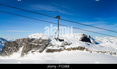 Llandscape and ski resort in French Alps,Tignes, Le Clavet, Tarentaise, France - Stock Photo