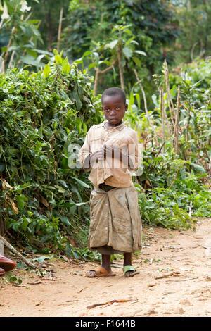 MAYANGE; RWANDA - NOVEMBER 4: Unidentified child from the UN Millenium village at November 4; 2013. It is a village - Stock Photo