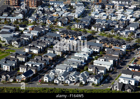 New housing development, Hobsonville, Auckland, North Island, New Zealand - aerial - Stock Photo
