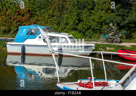 Bata Canal, port Straznice Petrov, South Moravia, Czech Republic, Europe Bata Canal is a navigable canal on the - Stock Photo