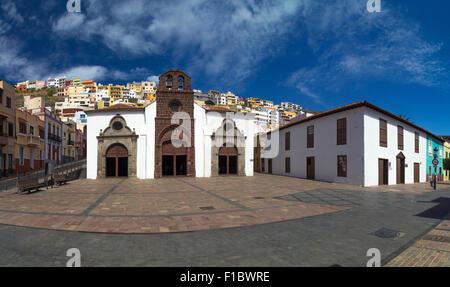 Panoramic view of Iglesia de Nuestra Senora de la Asunción, San Sebastian de La Gomera, Canary Islands - Stock Photo