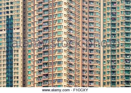 Apartment block towers in Tseung Kwan O, Sai Kung District, New Territories, Hong Kong, China - Stock Photo