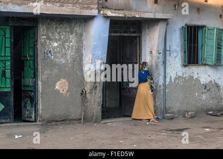 street life in Luxor, Egypt, Africa - Stock Photo