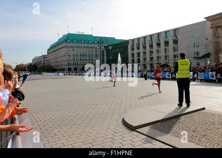 Impressionen - Berlin Marathon, 28. September 2014, Berlin-Mitte. - Stock Photo