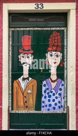 Funchal Door Art, Madeira - Stock Photo
